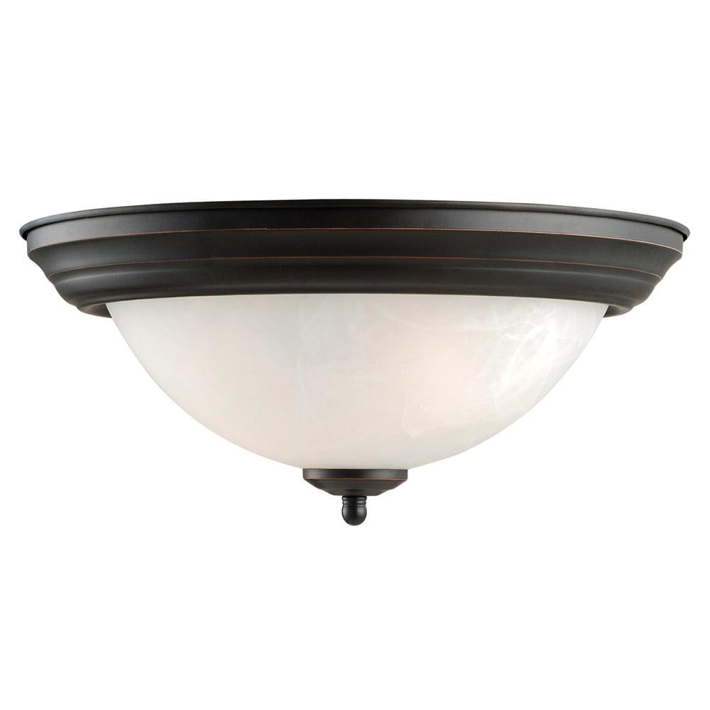 Design House 514489 Millbridge 2-Light Flush Mount Ceiling Light, Oil Rubbed Bronze by Design House