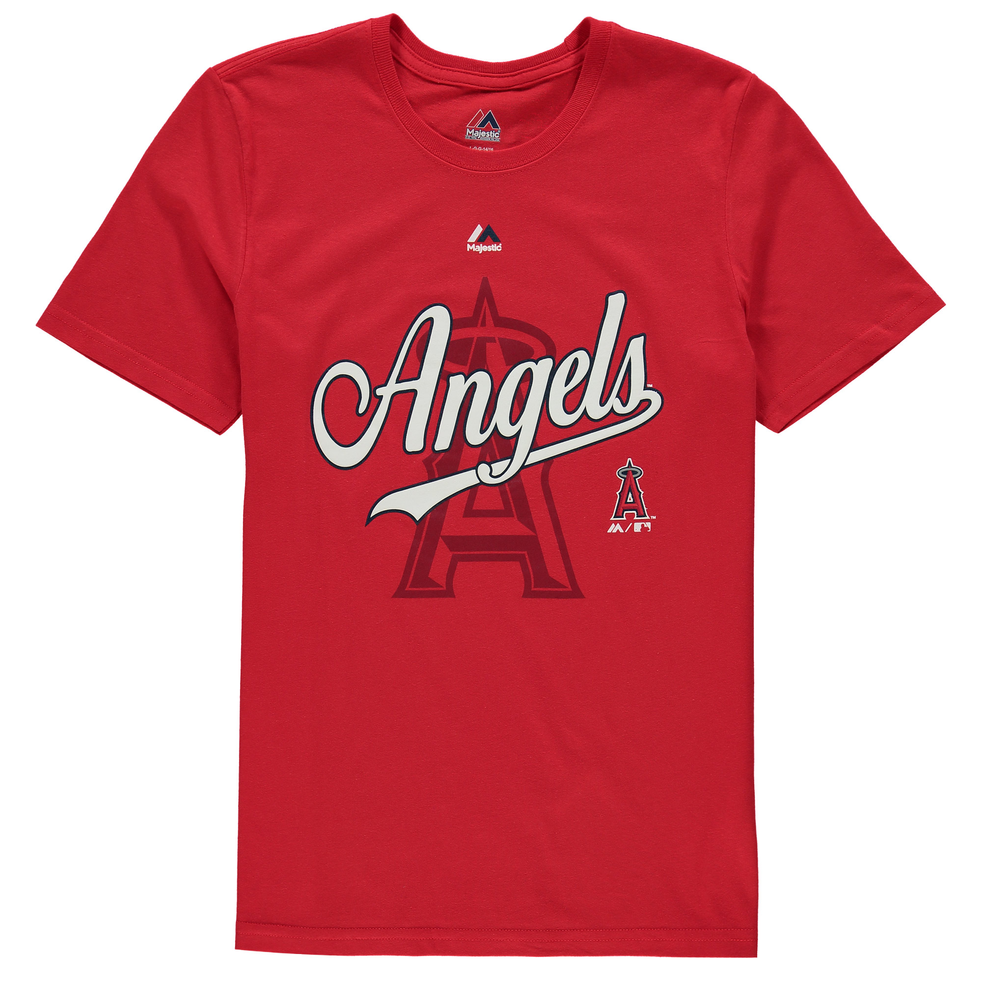 Los Angeles Angels Majestic Youth At the Game T-Shirt - Red