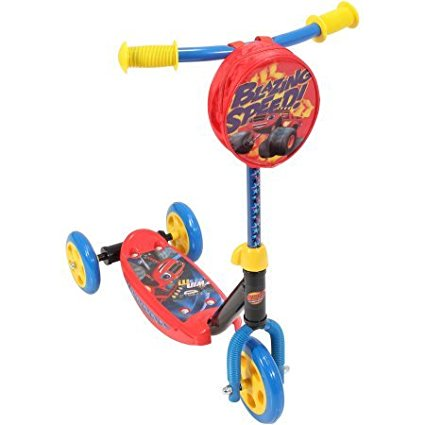 Playwheels Blaze And The Monster Machines 3 Wheel Scooter With Convenient Handle Pouch Bag Included  Maximum Weight Limit Up To 45 Lbs      By Generic Ship From Us