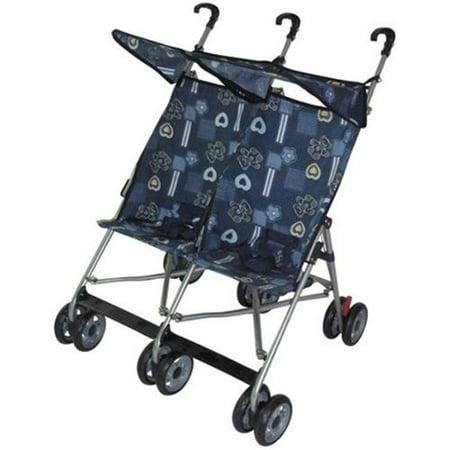 AmorosO 42702 Blue Twin Double Stroller - Walmart.com