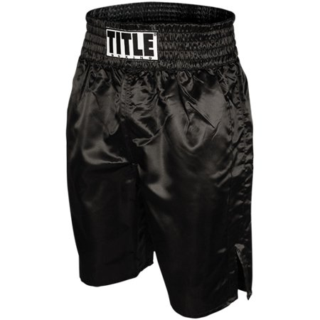 Title Professional Boxing Trunks - Black Autographed Black Boxing Trunks