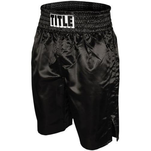 Title Professional Boxing Trunks - Black