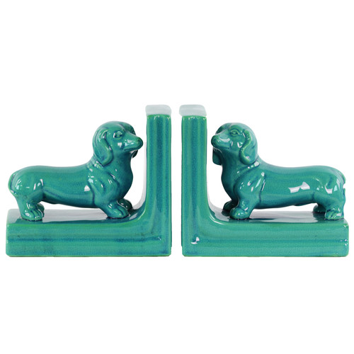 Urban Trends Ceramic Dachshund Dog Bookend (Set of 2)