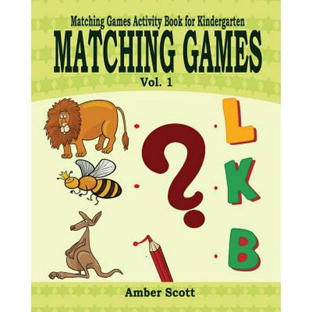 Matching Games ( Matching Games Activity Books for Kindergarten) - Vol. - Halloween Games For Kindergarten School Party