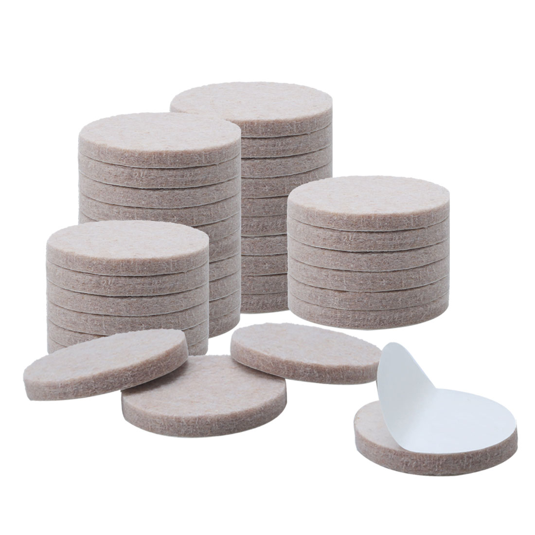 "Furniture Pads Round 1 1/2"" Self-stick Anti-scratch Table Floor Protector 36pcs - image 7 de 7"