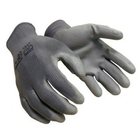 36 pairs Polyurethane Coated Work Glove Gray 13 Gauge Nylon Gray Polyu