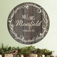Mr. and Mrs. Personalized Brown Tin Sign