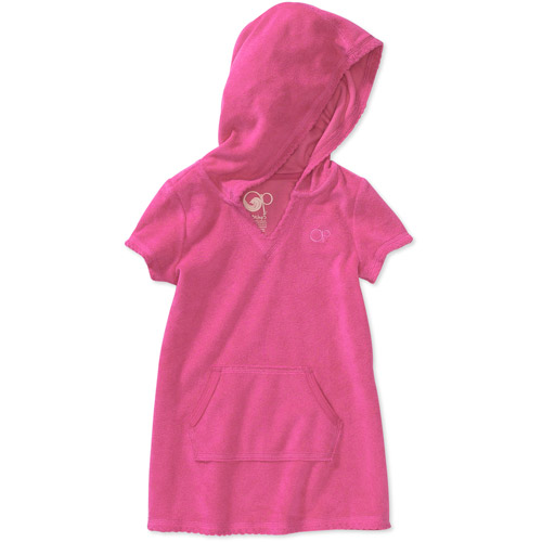 Op - Baby Girls' Hooded Terry Cover-Up Dress