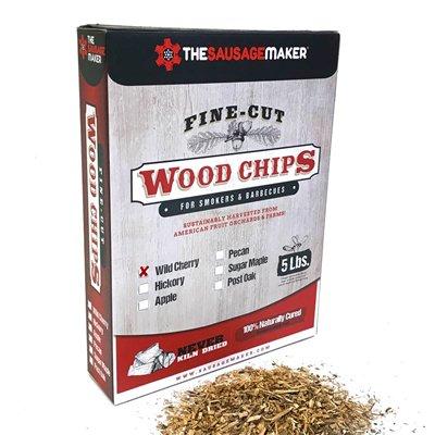 Wild Cherry Fine Cut Wood Chips  5 Lbs
