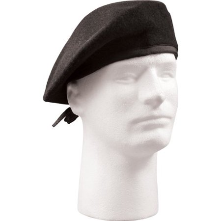 Rothco GI Type Beret Without Flash - Black, 7 (Black Berets)