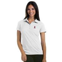 Los Angeles Angels Antigua Women's Pique Xtra-Lite Polo - White