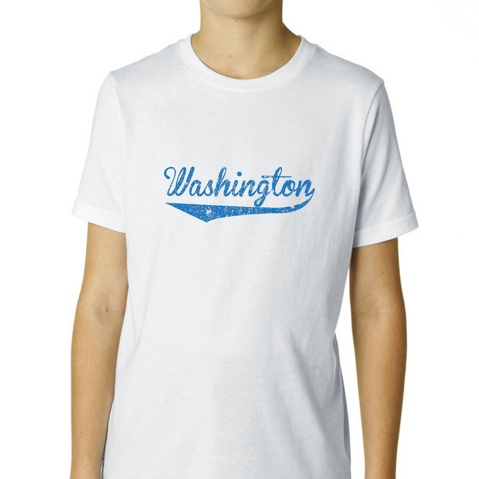 Simple Trendy Washington D.C. Stylized Print Boy's Cotton