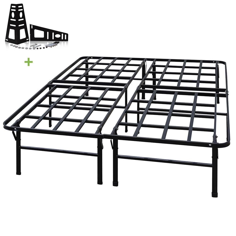 3000lbs Max Weight Capacity TATAGO 16 Inch Tall Heavy Duty Platform Bed Frame & 2 Set Headboard Bracket, Mattress... by TATAGO