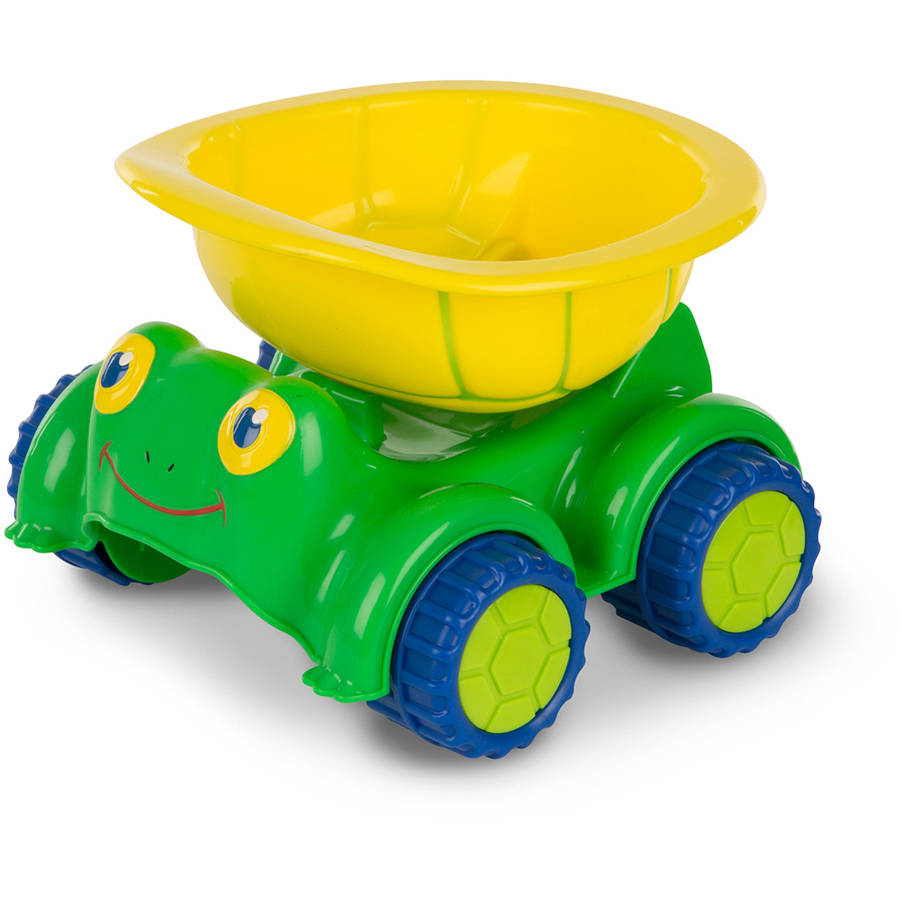 Melissa & Doug Sunny Patch Tapper Turtle Dump Truck Construction Vehicle by Melissa %26 Doug