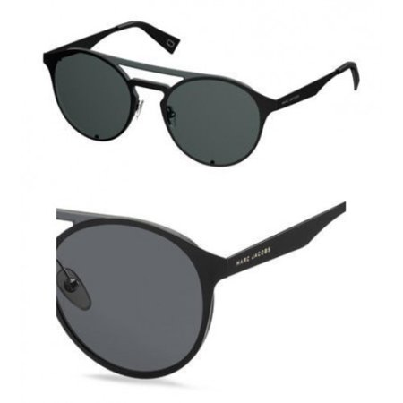 Marc Jacobs Metal Oval Sunglasses 99 0807 Black IR gray blue lens