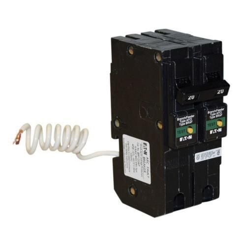 Eaton BRL220CAF Plug-In Mount Type BR Combination Arc Fault Circuit Breaker 2-Pole 20 Amp... by Eaton Cutler Hammer