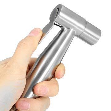 Stainless Steel Hand Held Toilet Bidet Sprayer Bathroom Shower Water Spray Head Cleaning Tool
