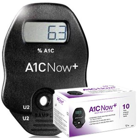 Now A1C Test Kit A1C Diabetes Monitoring Blood Sample 10 Tests (Diabetes Test Kit Case)