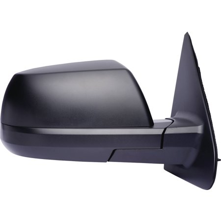 70129T - Fit System Passenger Side Mirror for 07-13 Toyota Tundra Pick-Up Base, SR5 Model, w/ cold climate, textured black, foldaway, Heated Power (Sided Base Model)