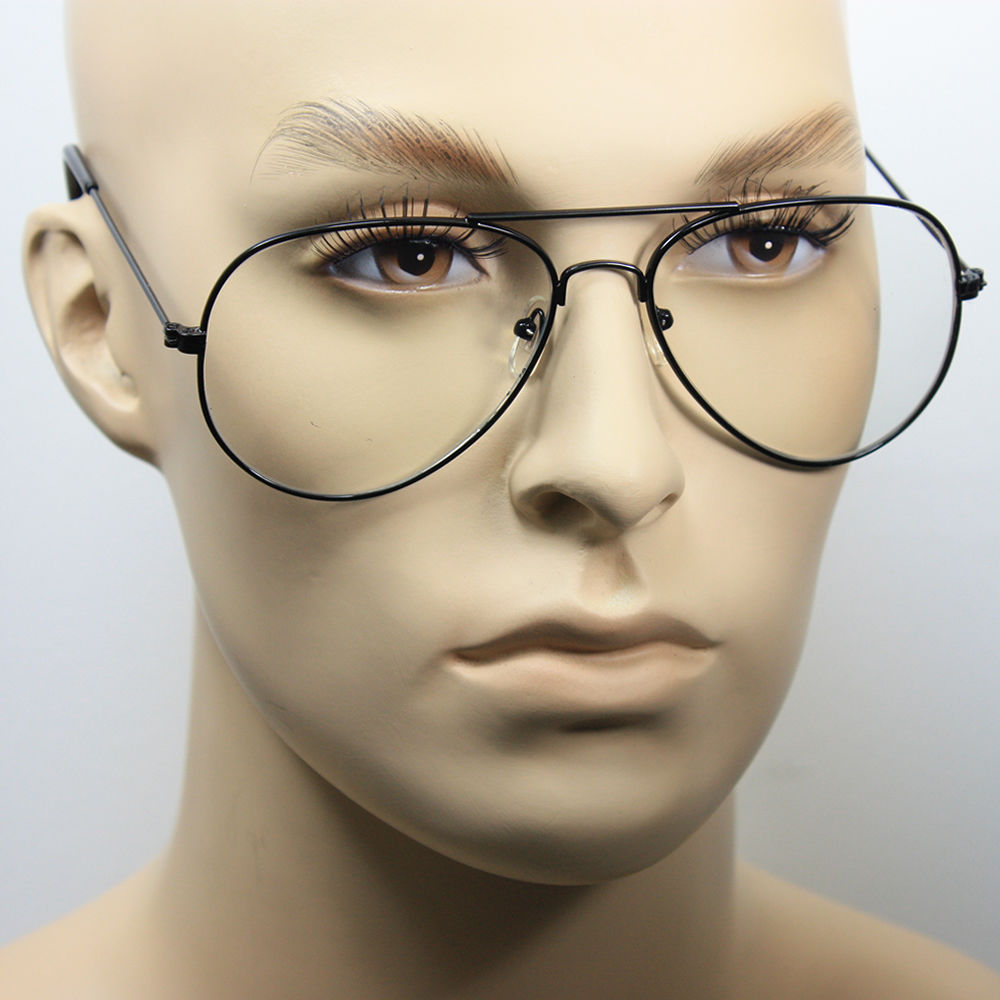 b941d32ea Clear Lens Aviator Eyeglasses Men Women Gold Black Metal Classic Retro  Vintage - Walmart.com