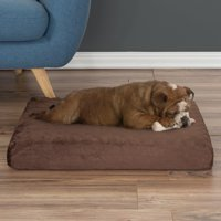 Orthopedic Pet Bed - Egg Crate and Memory Foam with Washable Cover 26x19x4 by PETMAKER - Brown
