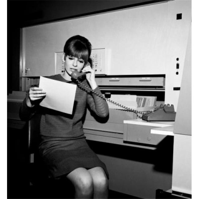 Posterazzi SAL255417831 Young Woman at Office on the Phone Poster Print - 18 x 24 in. - image 1 of 1