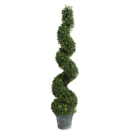 A&B Home Spiral Boxwood Artificial Topiary Tree, 48-Inch
