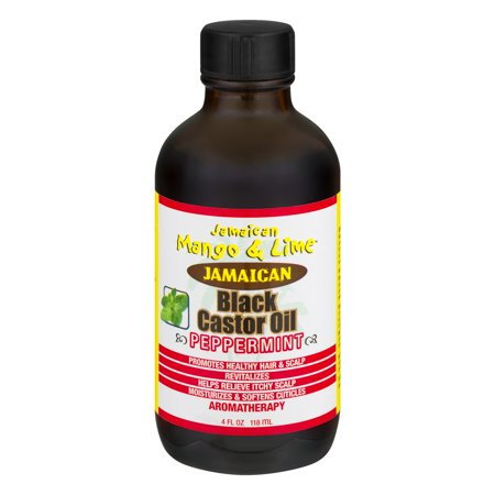 Jamaican Mango & Lime Black Castor Oil with Peppermint, 4 fl