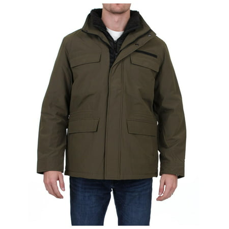 Weatherproof Mens Winter Techno-Cotton Parka Coat - Mens Bugaboo Parka