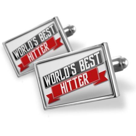 Cufflinks Worlds Best Hitter - NEONBLOND