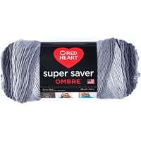 Red Heart Super Saver Ombre Yarn 10 oz Anthracite