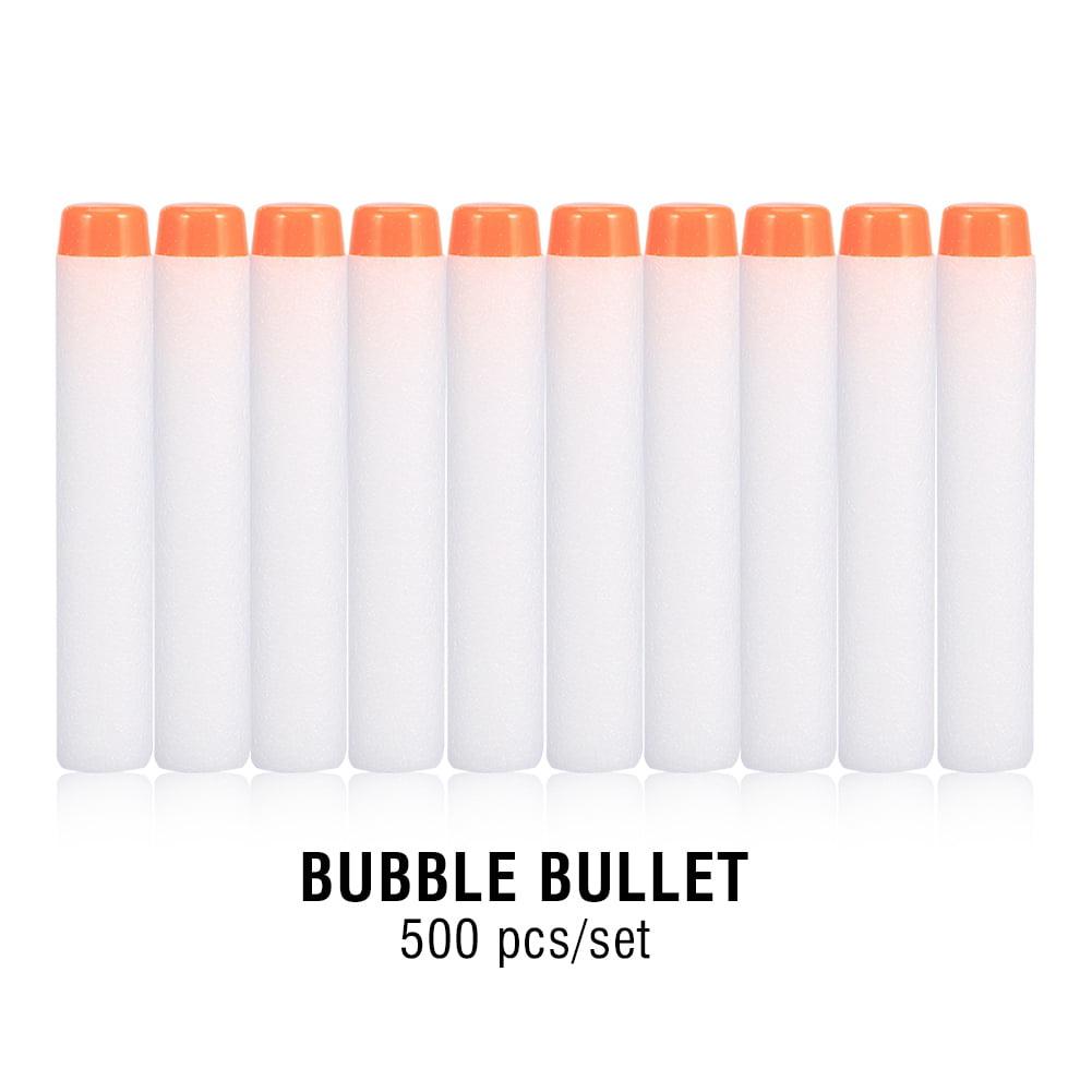 Dioche 500Pcs Refill Blaster Bullet Foam Darts ,Toy Soft Bullet Sponge EVA Round Head Bullet (White)