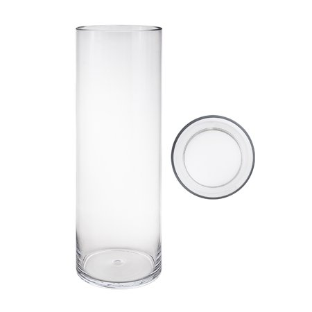 Mega Vases 6 X 24 Cylinder Glass Vase Set Of 1 Clear