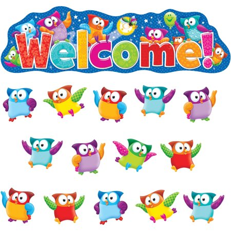 Trend, TEP8367, Owl-Stars! Welcom Bulletin Board Set, 38 / Set, Multicolor](Classroom Supply)