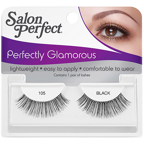Salon Perfect Perfectly Glamorous Eyelashes, 105 Black, 1 pr