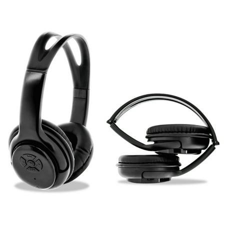 b74b3a67a84 ByTech Bluetooth Headphones, Black - Walmart.com