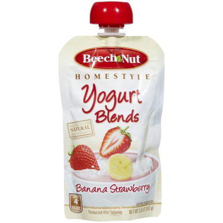 Beech-Nut Yogurt Blends Banana Strawberry Yogurt, 3.8 oz (Pack of 12)