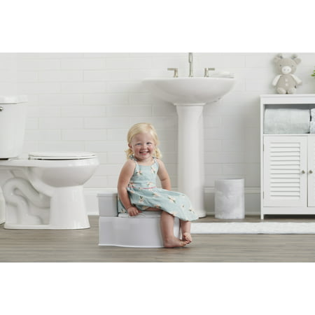 Regalo 2-in-1 My Little Potty Training & Transition Potty, Grow with Me & On The Go, Bonus Kit, Flushing Sound, Removable Training Transition Potty Seat, Oversized Foam Soft Seat & Wipe Storage, White