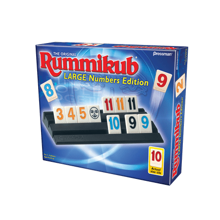Rummikub large number edition - the original rummy tile game (Halloween Math Games For High School)