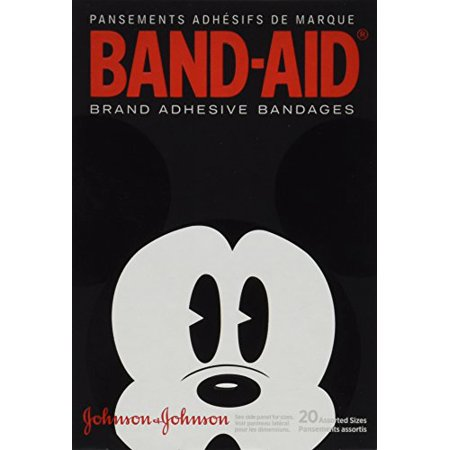 6 Pack - BAND-AID Bandages Mickey Mouse Assorted Sizes 20 Each