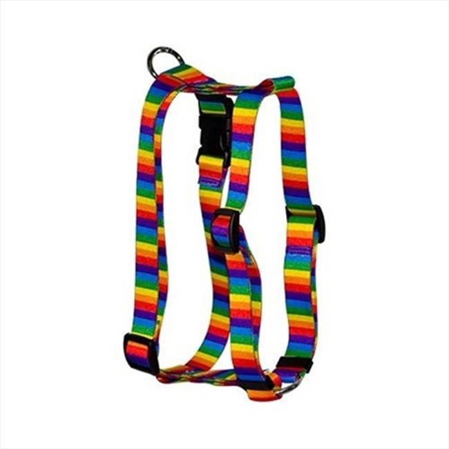 Yellow Dog Design Rainbow Stripes Roman Harness