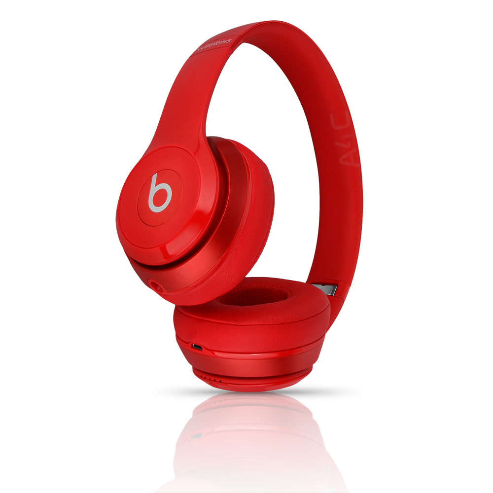 (Refurbished) Beats Solo 2 Wireless On-Ear Headphone - Red