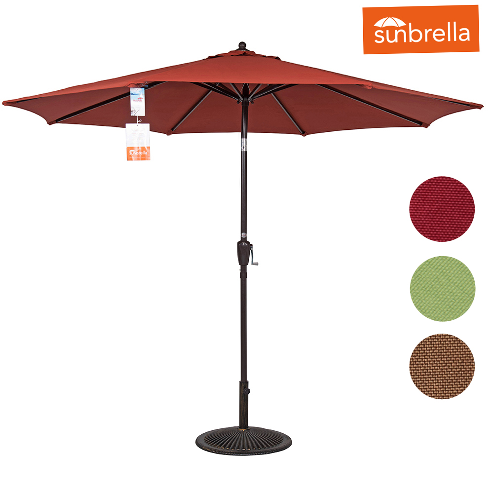 Sundale Outdoor 8.2 Ft Sunbrella Fabric Patio Umbrella Outdoor Market Garden,Push Button... by Sundale Outdoor
