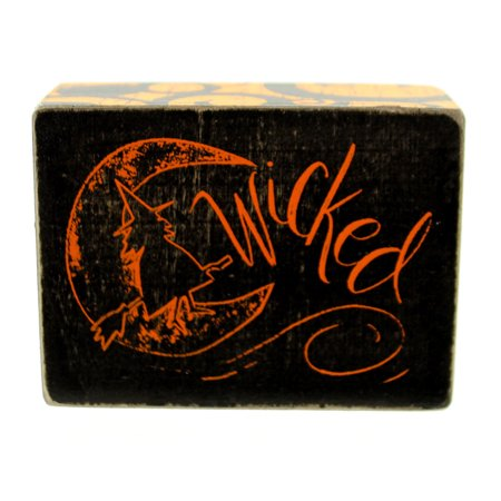 Halloween WICKED CHALK SIGN Wood Witch Moon Primitive 25070