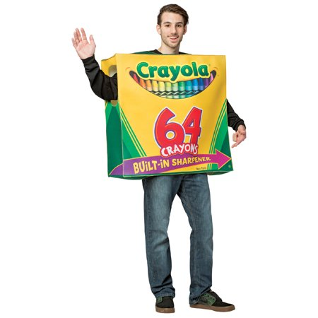 Crayola 64 Count Box Tunic Men's Adult Halloween Costume, One Size, - Halloween Trail Ct
