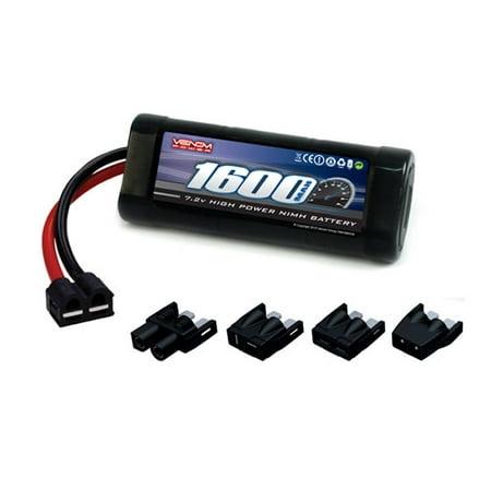 Venom NiMH Battery for Traxxas Slash 4X4 1:16 7 2 1600mAh 6-Cell with  Universal Plug