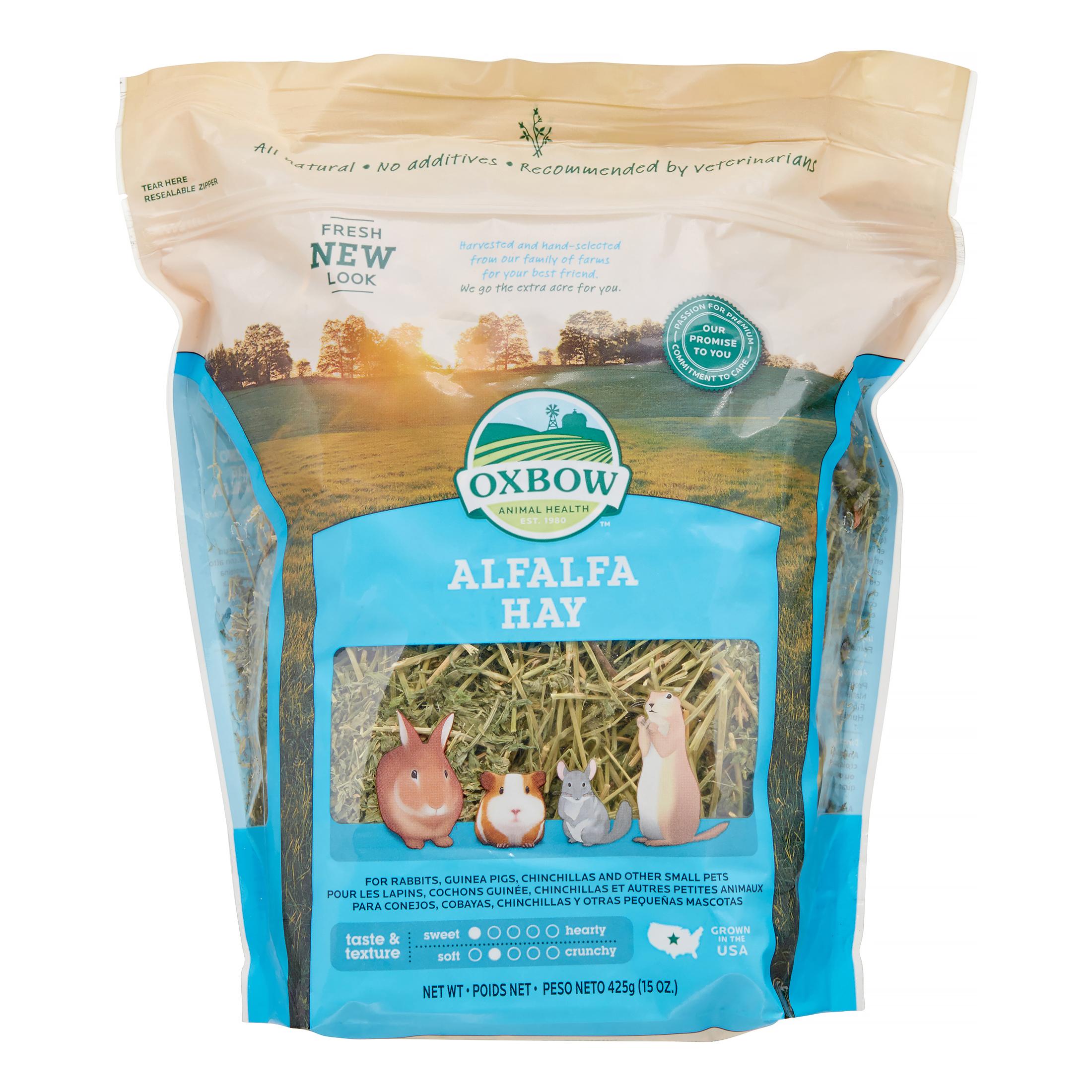 Oxbow Alfalfa Hay Dry Small Animal Food, 15 oz.