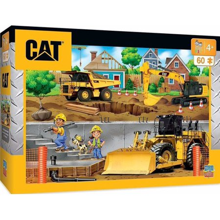 Caterpillar Puzzle (MasterPieces Caterpillar In My Neighborhood - Construction Trucks 60 Piece Kids Puzzle)