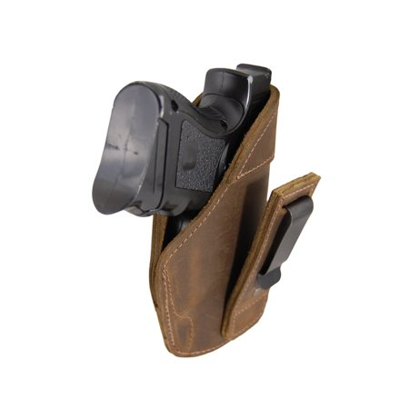 Barsony Right Brown Leather Tuckable IWB Holster Size 15 Beretta Glock S&W Taurus Walther Compact 9 40