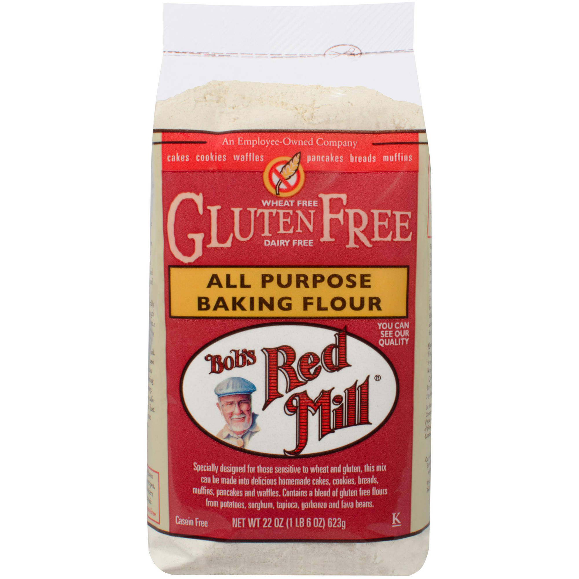 Bob's Red Mill All Purpose Baking Flour, 22 oz (Pack of 4)